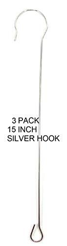 WorldaWhirl Smoked Steel Hooks Silver Copper Extend Display Hang Feeder Perch  3,15