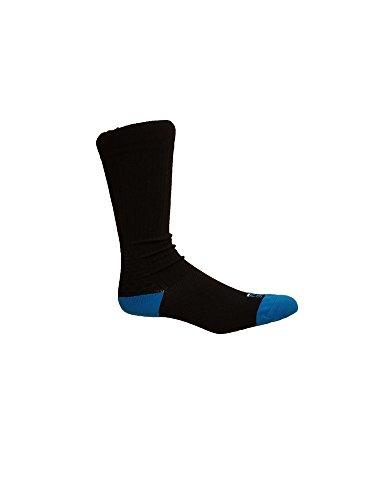 Women's FILA Sport Compression Crew Socks Shoe Size 5-9 Black/Blue