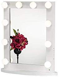 Joyful Store White Hollywood Makeup Mirror Lighted