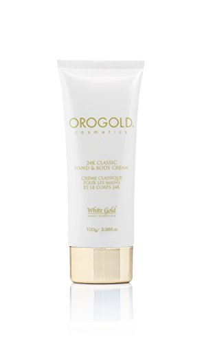 White Gold 24K Hand & Body Cream from OROGOLD Cosmetics, 100 ml. (100ml Hand Cream)