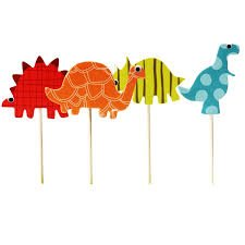 Dinosaur Cupcake Toppers- Quality (Set of 24 dinosaurs)