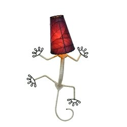 Eangee Gecko Wall Sconce, 24-Inch Tall, Purple