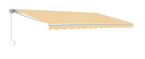 ALEKO AWM20X10IVORY29 Retractable Motorized Patio Awning 20 x 10 Feet Ivory