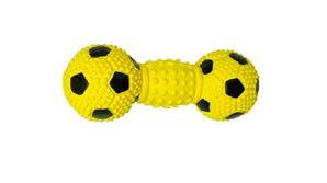 Vo-Toys Latex Stuffed Knobby Socker Dumbbell Dog Toy