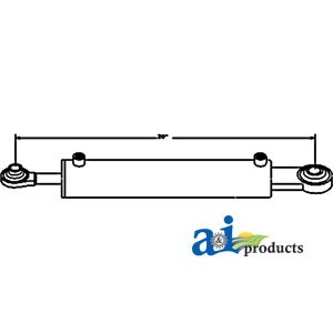 Hydraulic Top Link Cylinder Cat I 2'' Bore Part No: A-TLH01, HTL2102 by AI Products