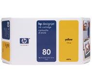 CItoh VP 2020 -Original HP C4873A / Nr. 80 - Yellow Ink Cartridge -175 ml (Ml Ink 175)