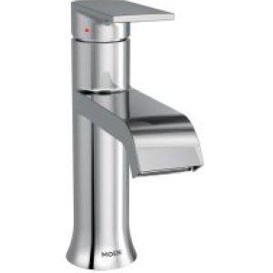 Moen 6702 Genta High-Arc Single-Handle Bathroom Faucet with Drain Assembly, Chrome
