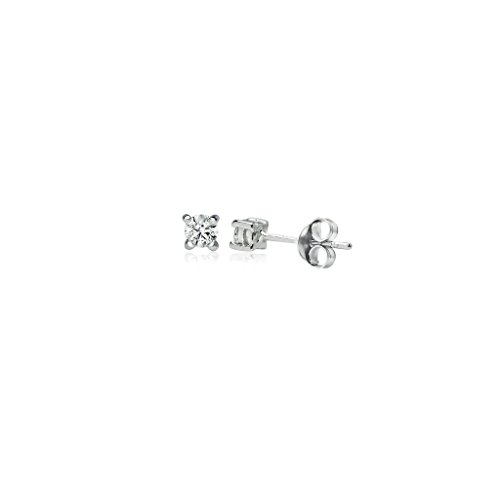 Sterling Silver Earrings Small Zirconia