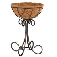 Mintcraft Coconut Lined Planter W/Stand W52891