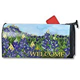MailWraps Field Of Blue Mailbox Cover #01088