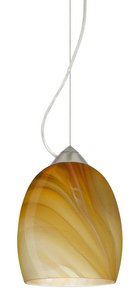 Besa Lighting 1KX-1697HN-BR Lucia - One Light Pendant, Choose Finish: BR: Bronze, Choose Mounting Option: 1KX: Dome Canopy Cable Fixture, Choose Lamping Option: 100W Incandescent Medium Base ()