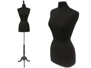 Black Form Dress - Roxy Display New Black Female Dress Form Body Form with Base and Necktop Size 2-4 34