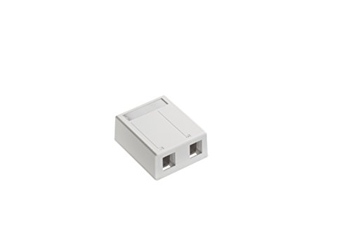 (Leviton 4S089-2WP QuickPort Surface Mount Box for Shielded Connectors, White, 2-Port )