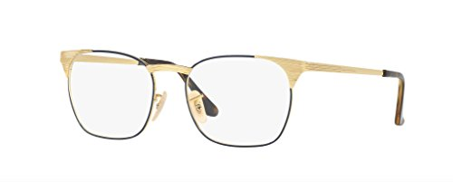 Ray-Ban Men's RX6386 Eyeglasses Gold Top Blue - Frame Ban Gold Ray Glasses