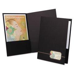Oxford 4161 Monogram Series Business Portfolio, Premium Cover Stock, Black/Gold, 4/Pack