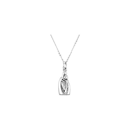 Sterling Silver Cremation Urn Holding You Forever Ash Holder With 18'' Chain 27.31X11.58 MM by SVJDirect