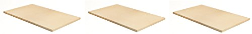 Pizzacraft PC9899 20 x 13.5 Rectangular ThermaBond Baking/Pizza Stone for Oven or Grill (Pack of 3) by Pizzacraft