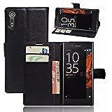 Sony Xperia M / C1904 / C1905 Black High Quality Pu Leather Flip Case Cover Plus Stylus Pen, Screen Protector & Screen Polishing Cloth