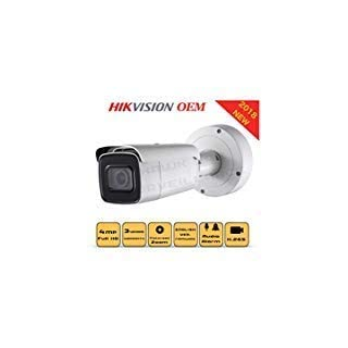 4MP PoE Security IP Camera - Compatible with Hikvision Performance Series DS-2CD2645FWD-IZS Varifocal Bullet,Indoor and Outdoor,Motorzied Lens 2.8-12mm IR Night Vision English Version 3 Year Warranty