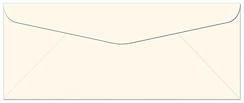 "50 Off White Ivory #10 Envelopes - 9.5"" x 4.125"" - Standard Flap"