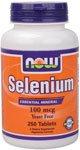 Now Foods Selenium 100mcg, sans levure, 250 Comprimés