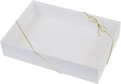 Clear Gift Boxes - Clear Top Boxes w/ White Base, 10 x 7 x 2