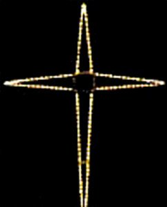 10' Giant LED Folding Bethlehem Star, 150 Cool White Lights by Kringle Traditions