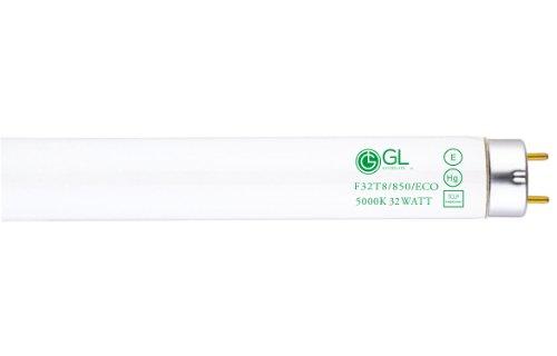 Goodlite G-20232 F32T8/850/ECO Straight 32 Watt 48-Inch Inch 800 Series T8 Fluorescent Tube Light Bulb, 30 Pack, Super White