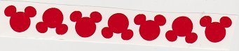 Vinyl Disney Mickey Mouse Head Die Cut Stickers - 25 Piece 1 Inch Red