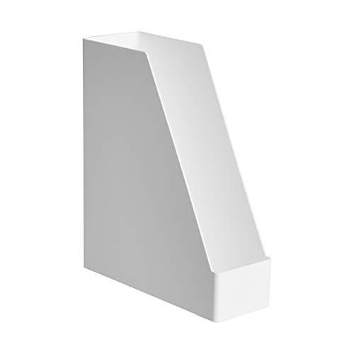 AmazonBasics Plastic Organizer - Magazine Rack, White, 1-Pack