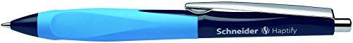 Schneider Schreibgeräte Kugelschreiber Haptify, Druckmechanik, M, blau, Schaftfarbe: dunkelblau-hellblau