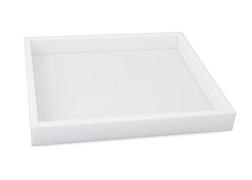 (White Stackable Jewelry Tray (1/2 Size) Jewelry Display Trays)