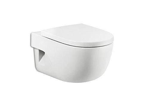 Roca A8012AB004 - Asiento y tapa inodoro compacto, colección Meridian, 41.5 x 36 cm, color blanco