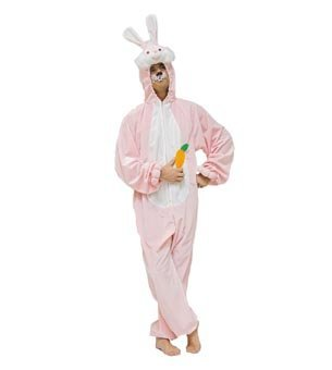 Wilbers Mens EU 50/ UK and US 40 Pink Bunny Costume by (Fifties Costumes Uk)