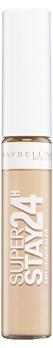 Maybelline New York Superstay 24h Concealer Light 02 / Abdeckstift in natürlichem Braun, langanhaltendes Teint-Make-Up gegen Hautunebenheiten, 1 x 7,5 ml