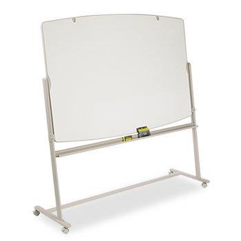 Reversible Mobile Presentation Easel, Dry-Erase, 72 x 48, White/Neutral ()