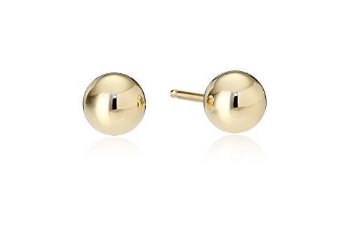 Yellow Gold Ball Stud Earrings