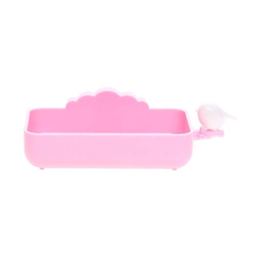 Ligsruise Soap Dishes Nail-Free Suction Cup Creative Wall-Mounted Soap Dish Drain Soap Box Bathroom Accessories Set Pink (Color : -, Size : -)