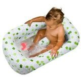 Baby / Child Mommy's Helper Inflatable Bath Tub Froggie Collection with Adorable froggie design, White/Green Infant