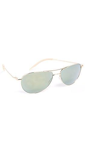Oliver Peoples Eyewear Men's Benedict Sunglasses, Gold, One - Benedict Oliver 59 Peoples