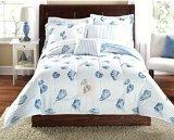 Seashells, Beach Themed, Nautical Queen Comforter Set (8 Piece Bed In A Bag)