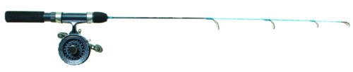 Eagle Claw Cold Smoke Inline Ice Ultralight Fishing Combo, 28-Inch, Water Camo