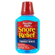 Breathe Right Snore Relief Throat Rinse, cool Mint 10 fl oz (Snore Relief Throat Strips)