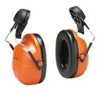 Hi Viz Earmuffs (Peltor Optime Earmuffs, Cap-Mount, Orange Hi-Viz)