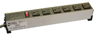 Power Distribution, Heavy Duty, 6 Outlets, 120 V, 15 A, 339.45 mm, 53.98 mm, 1.83 m