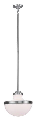 - Livex Lighting 5726-91 Oldwick 1-Light Pendant, Brushed Nickel