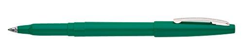 Pentel R100D Rolling Writer Stick Roller Ball Pen, .8mm, Green Barrel/Ink (Pack of 12) (Pen Nonrefillable Pentel)