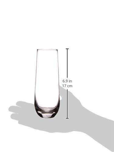 Beer 10.5 Clear Liquor Juice Whiskey /& Home Bar Decor Elegant All-Purpose Wine Drinking Glassware Beverage Cups for Water Circleware 45034//D Chantal Stemless Champagne Flute Glasses Set of 4