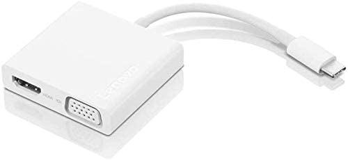 White GX90T33021 4K HDMI Only 0.08 lbs USB 3.0 Lenovo USB-C 3-in-1 Travel Hub Plug and Play VGA