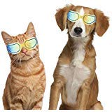 Dogs Goggles Pet Motorcycle Sunglasses Waterproof Windproof UV Protection for Small Dogs Doggy Puppy and Cats Glasses - Vet Recommended Eye Protection (Bright Yellow)